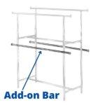 60″ Add-On Bar-includes hardware. Fits R-40 & R-43.