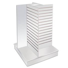 Wood Fixtures: Slatwall Gondola Display Pinwheel White