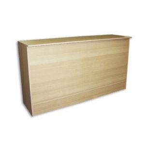 6' Flat Top Counter - Maple Wood fixture