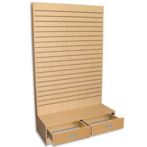 "Wood Fixtures: Slatwall ""L"" Gondola Display Maple"