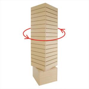 Wood Fixtures: Slatwall Revolving Tower 12SQ Display Maple