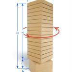 Slatwall Revolving Tower Display Maple