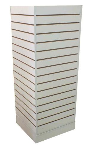 Wood Fixtures: Slatwall Tower Display White