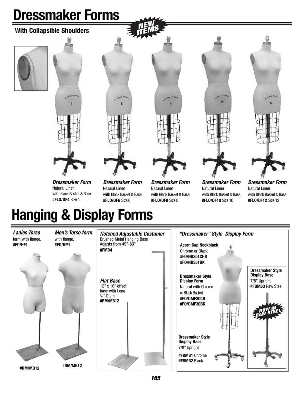 dressmaker forms
