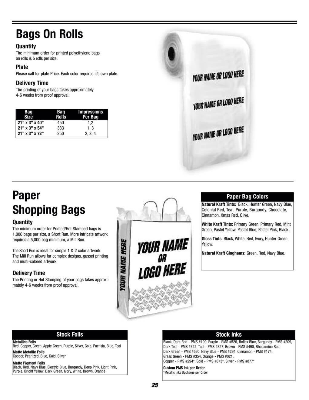 bags on rolls