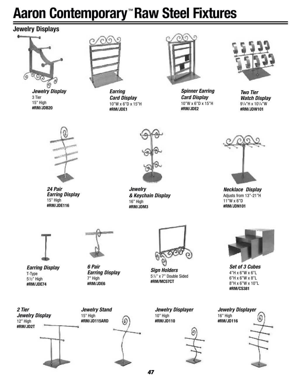 jewelry steel fixtures