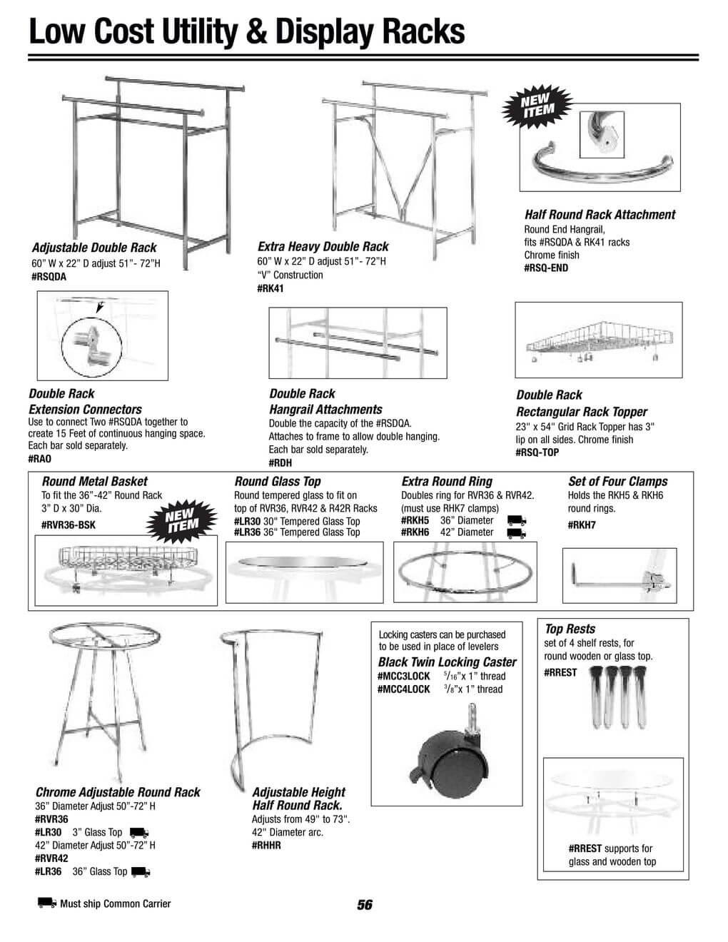 utility and display racks