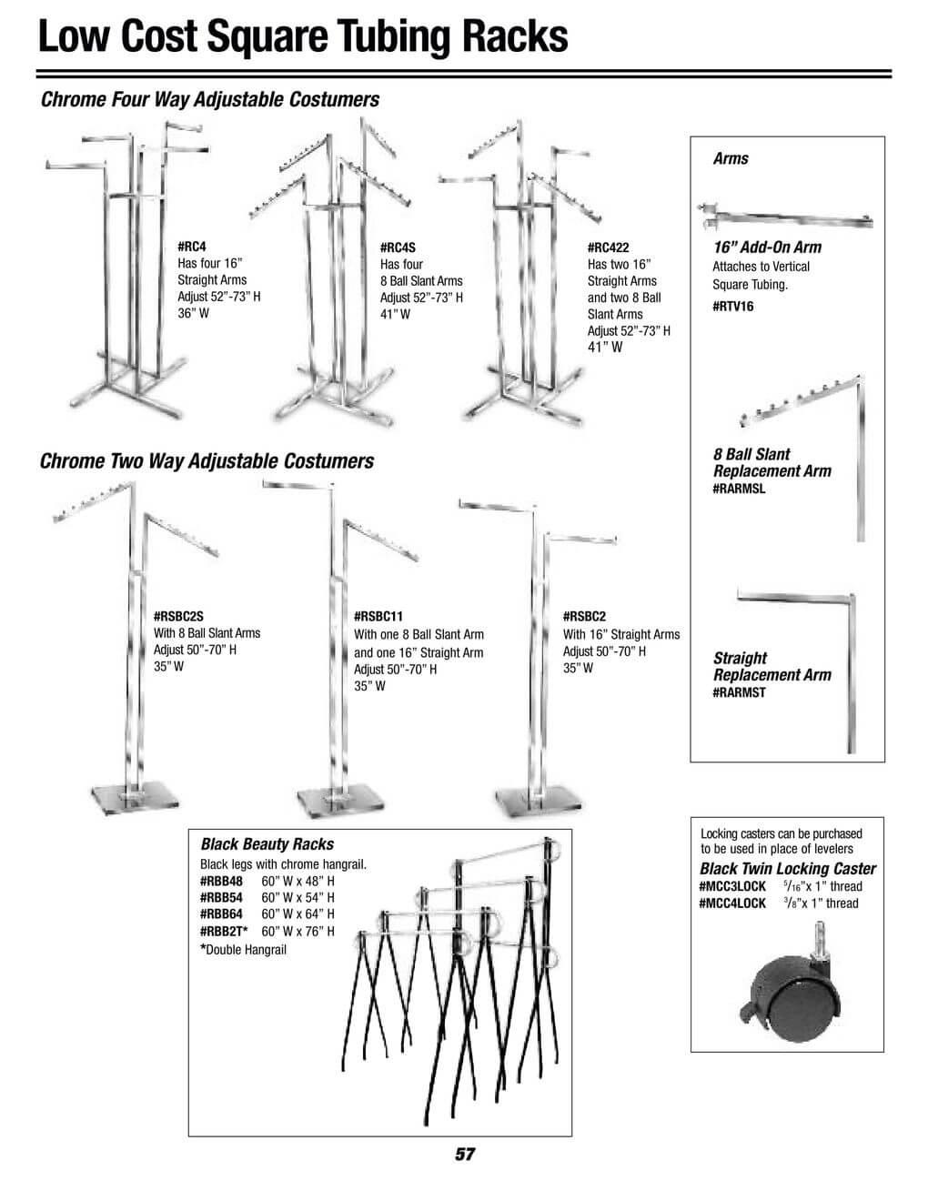 square tubing racks