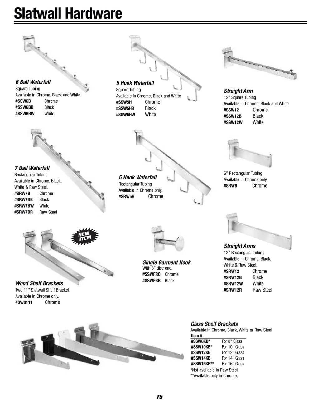 slatwall hardware