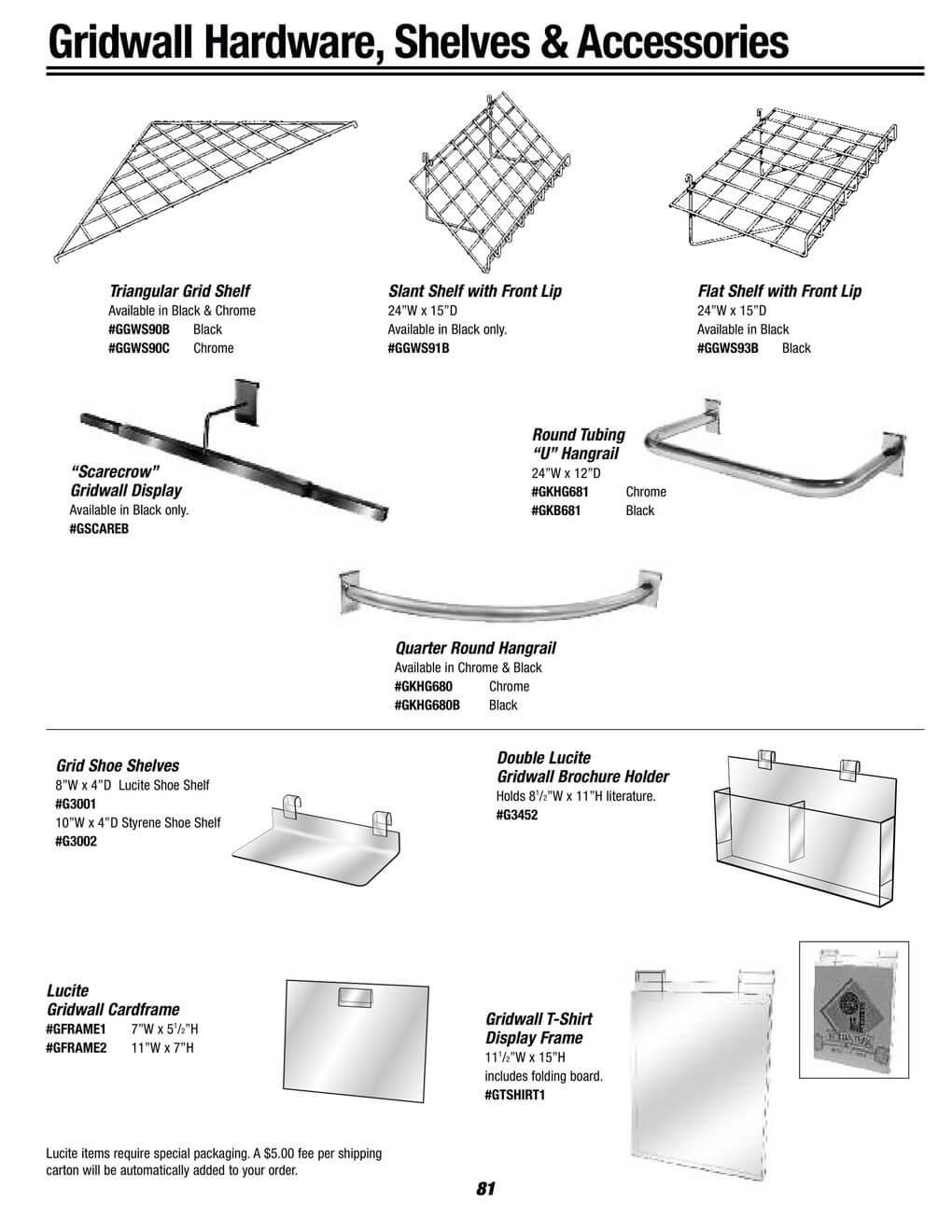 gridwall brochure holders