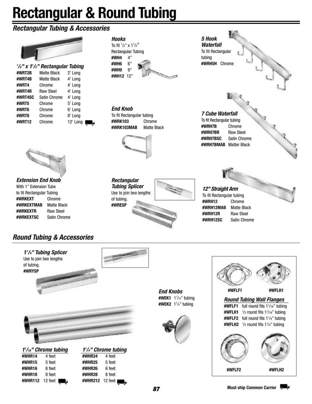 rectangular and round tubing