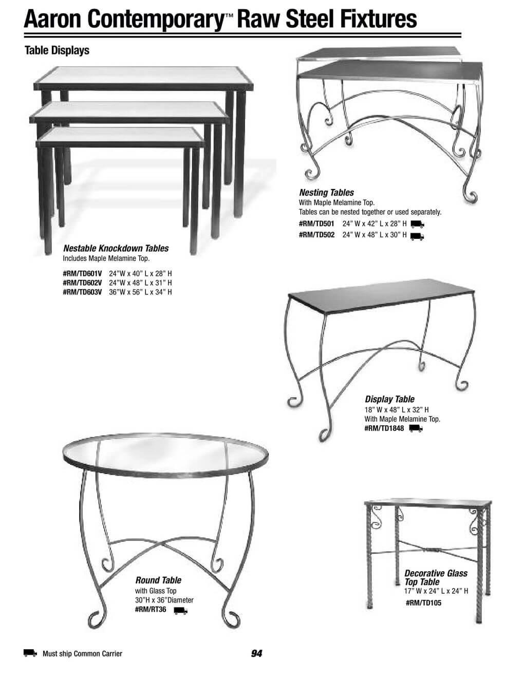 raw steel fixtures