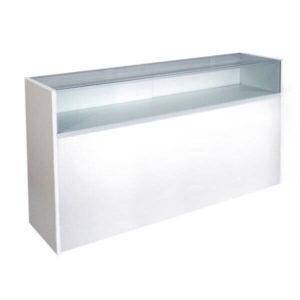 Showcases: 6' Quarter View White