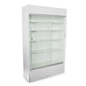 Showcases: 4' Wall Case - white